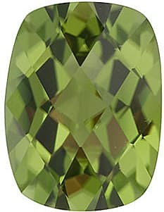 Loose Genuine Gem Calibrated Size Genuine Beautiful Antique Cushion Checkerboard Peridot Gem Grade AAA, 8.00 x 6.00 mm in Size, 1.45 Carats