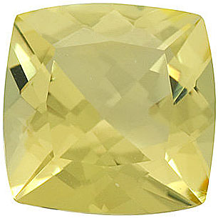 Loose Natural Calibrated Size Genuine Beautiful Antique Square Shape Lemon Quartz Gem Grade AA, 10.00 mm in Size, 4.2 Carats