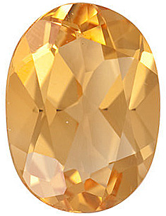 Gemstone Loose  Calibrated Top Quality Oval Shape Citrine Gemstone Grade A, 14.00 x 10.00 mm in Size, 5.75 carats