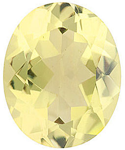 Loose Gem Calibrated Size Genuine Beautiful Oval Shape Lemon Quartz Gem Grade AA, 11.00 x 9.00 mm in Size, 3.35 Carats
