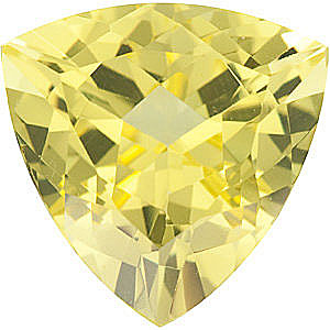 Genuine Calibrated Size Genuine Beautiful Trillion Shape Lemon Quartz Gemstone Grade AA, 10.00 mm in Size, 3.05 Carats