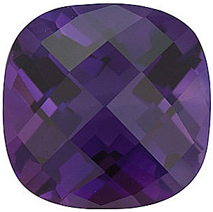 Beautiful Genuine Loose Amethyst Gem in Chekerboard Antique Square Shape Grade AAA 8.00 mm in Size 2 carats