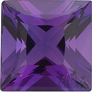 Standard Size Genuine Purple Amethyst Gemstone in Princess Shape Grade AAA 4.50 mm in Size 0.47 carats