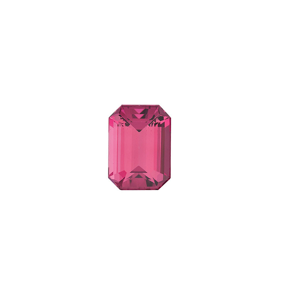 Standard Size Natural Loose Emerald Shape Pink Tourmaline Gemstone Grade AAA, 6.00 x 4.00 mm in Size, 0.6 Carats
