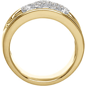 Captivating 0.75 Carat Total Weight Two Tone 1.20 mm Diamond Ring set in 14 karat White & Yellow Gold - SOLD
