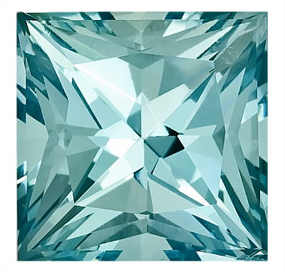 Captivating Unheated Blue Aquamarine Genuine Gemstone for SALE, 12.3mm Princess Cut,  8.35 carats,