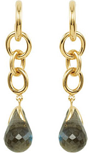 Chain Link Dangle Earrings for SALE - Choose Your 10x16mm Gemstone