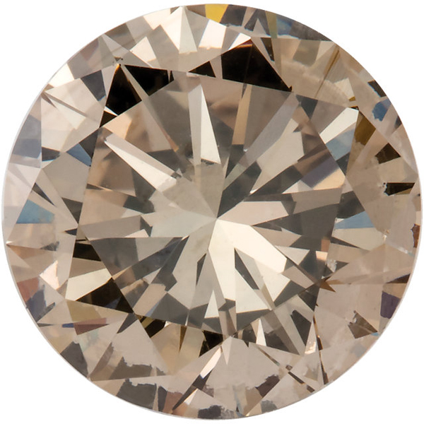 Natural Champagne Color Round Diamonds, 3.40 mm in Size, 0.15 carats
