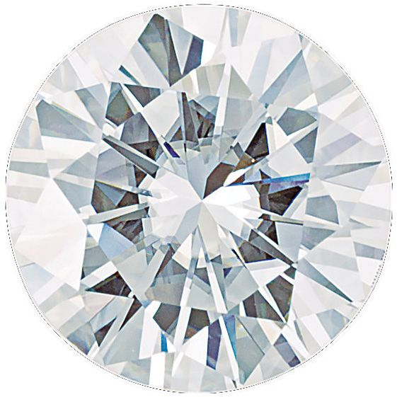 Charles & Colvard Forever One Colorless Moissanite Gemstone in Round Shape Grade AAA, 6.00 mm