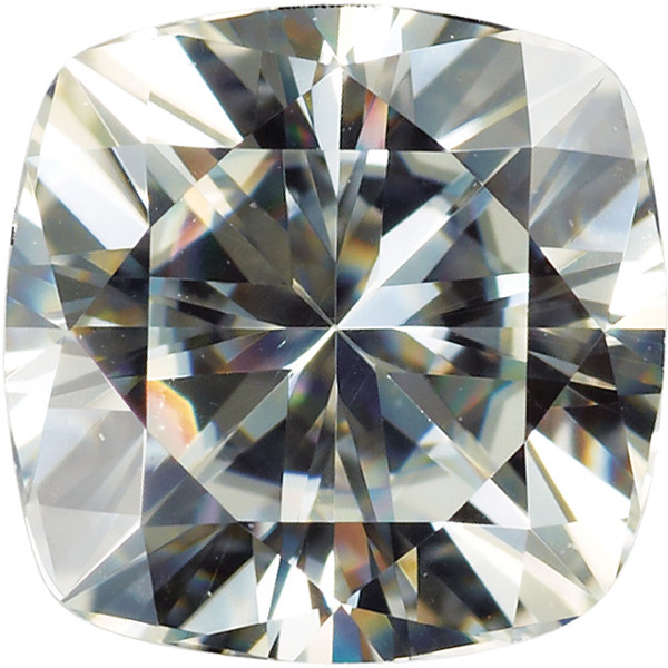 Genuine Charles & Colvard Lab Created Synthetic Moissanite Stone in Antique Square Shape Grade AAA, 6.00 mm