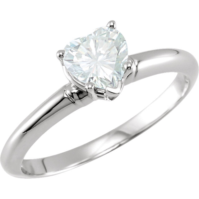 Charles & Colvard Moissanite 5-Prong Engagement Ring