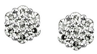 Charming Post Back Stud Style Created Moissanite Earrings With 0.75ct 2mm 14 Sparkling Moissanite Gem - SOLD