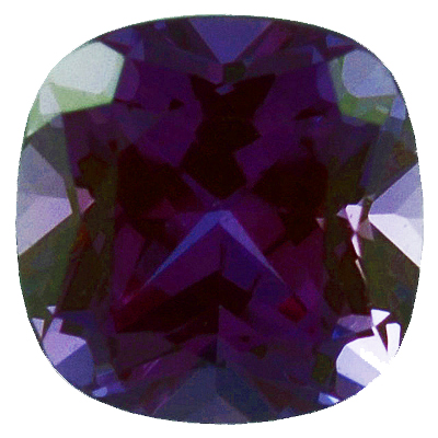 Chatham  Alexandrite Antique Square Cut in Grade GEM