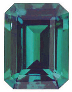 Chatham  Alexandrite Emerald Cut in Grade GEM