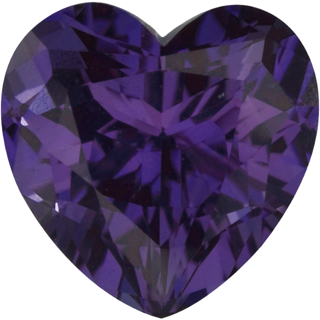 Chatham  Alexandrite Heart Cut in Grade GEM