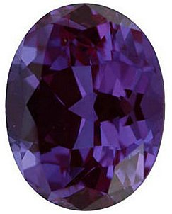 Chatham  Alexandrite Oval Cut in Grade GEM