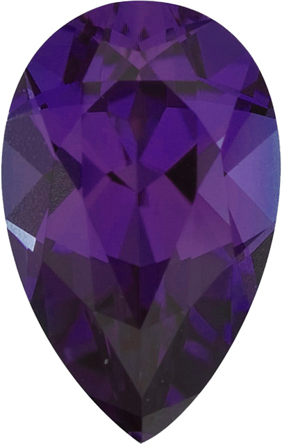 Chatham  Alexandrite Pear Cut in Grade GEM