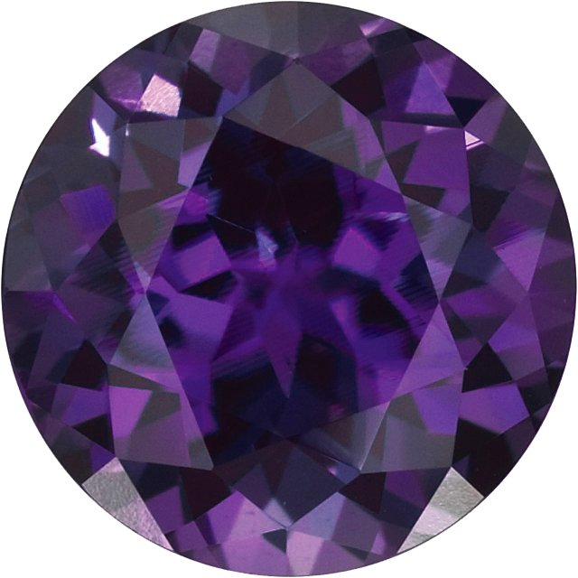 Chatham  Alexandrite Round Cut in Grade GEM