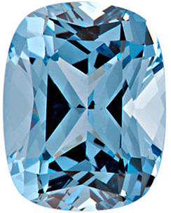 Chatham  Aqua Blue Spinel Antique Cushion Cut in Grade GEM