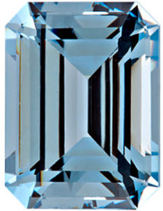 Chatham  Aqua Blue Spinel Emerald Cut in Grade GEM