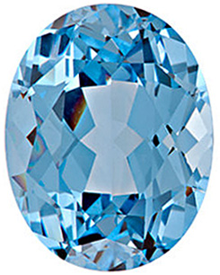 Chatham  Aqua Blue Spinel Oval Cut in Grade GEM