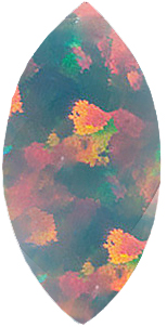 Chatham  Black Opal Marquise Cut  in Grade GEM - SOLD