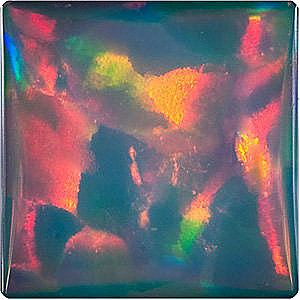 Chatham  Black Opal Square Cut  in Grade GEM - SOLD