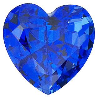 Chatham Blue Sapphire Heart Cut in Grade GEM