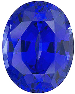 Chatham  Blue Sapphire Oval Cut in Grade GEM