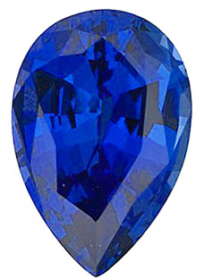Chatham  Blue Sapphire Pear Cut in Grade GEM