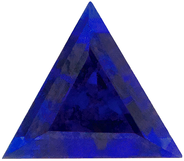 Beautiful Synthetic Blue Sapphire Gemstones in Triangle Cut