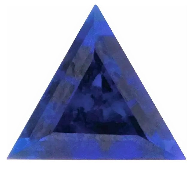 Chatham Blue Sapphire Triangle Cut in Grade GEM