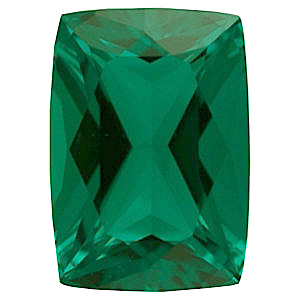 Chatham Emerald Antique Cushion Cut Grade GEM