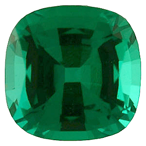Chatham  Emerald Antique Square Cut in Grade GEM