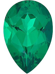 Chatham Emerald Pear Cut in Grade GEM