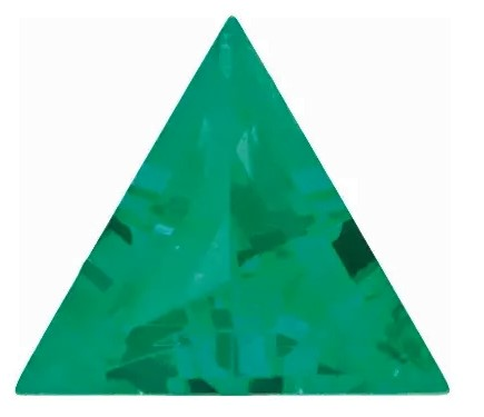 Chatham  Emerald Triangle Cut in Grade GEM