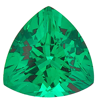 Chatham  Emerald Trillion Cut in Grade GEM