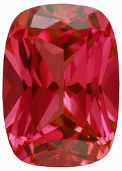 Chatham  Padparadscha Sapphire Antique Cushion Cut in Grade GEM