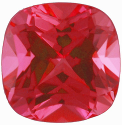 Chatham  Padparadscha Sapphire Antique Square Cut in Grade GEM