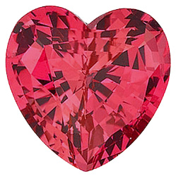 Chatham  Padparadscha Sapphire Heart Cut in Grade GEM