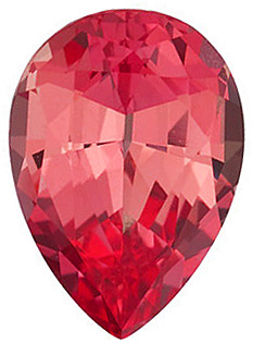 Chatham  Padparadscha Sapphire Pear Cut in Grade GEM