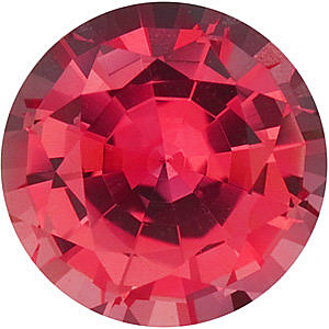 Chatham  Padparadscha Sapphire Round Cut in Grade GEM