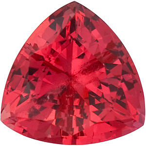 Chatham  Padparadscha Sapphire Trillion Cut in Grade GEM