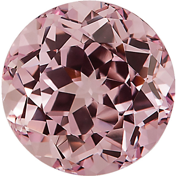 Round Shape Chatham Created Pink Champagne Sapphire Gemstone Grade GEM, 8.00 mm in Size, 2.75 Carats