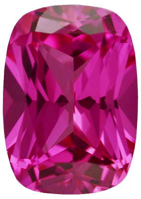 Chatham  Pink Sapphire Antique Cushion Cut in Grade GEM