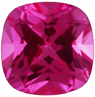 Chatham  Pink Sapphire Antique Square Cut in Grade GEM
