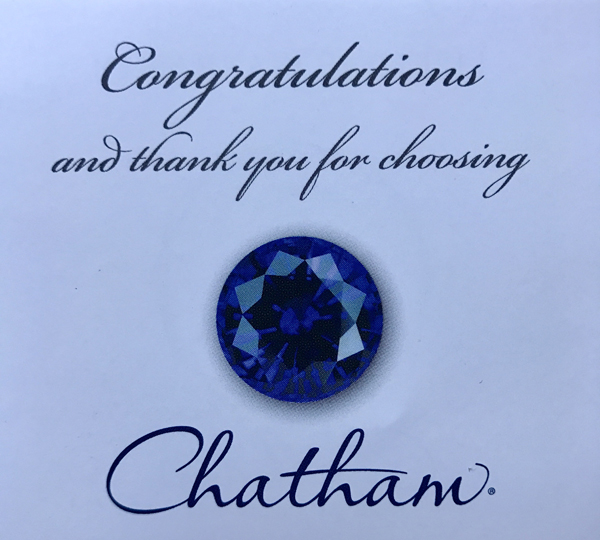 Chatham  Ruby Triangle Cut in Grade GEM