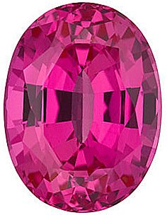 Chatham  Pink Sapphire Oval Cut in Grade GEM