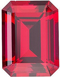 Chatham  Ruby Emerald Cut in Grade GEM
