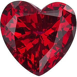 Chatham  Ruby Heart Cut in Grade GEM